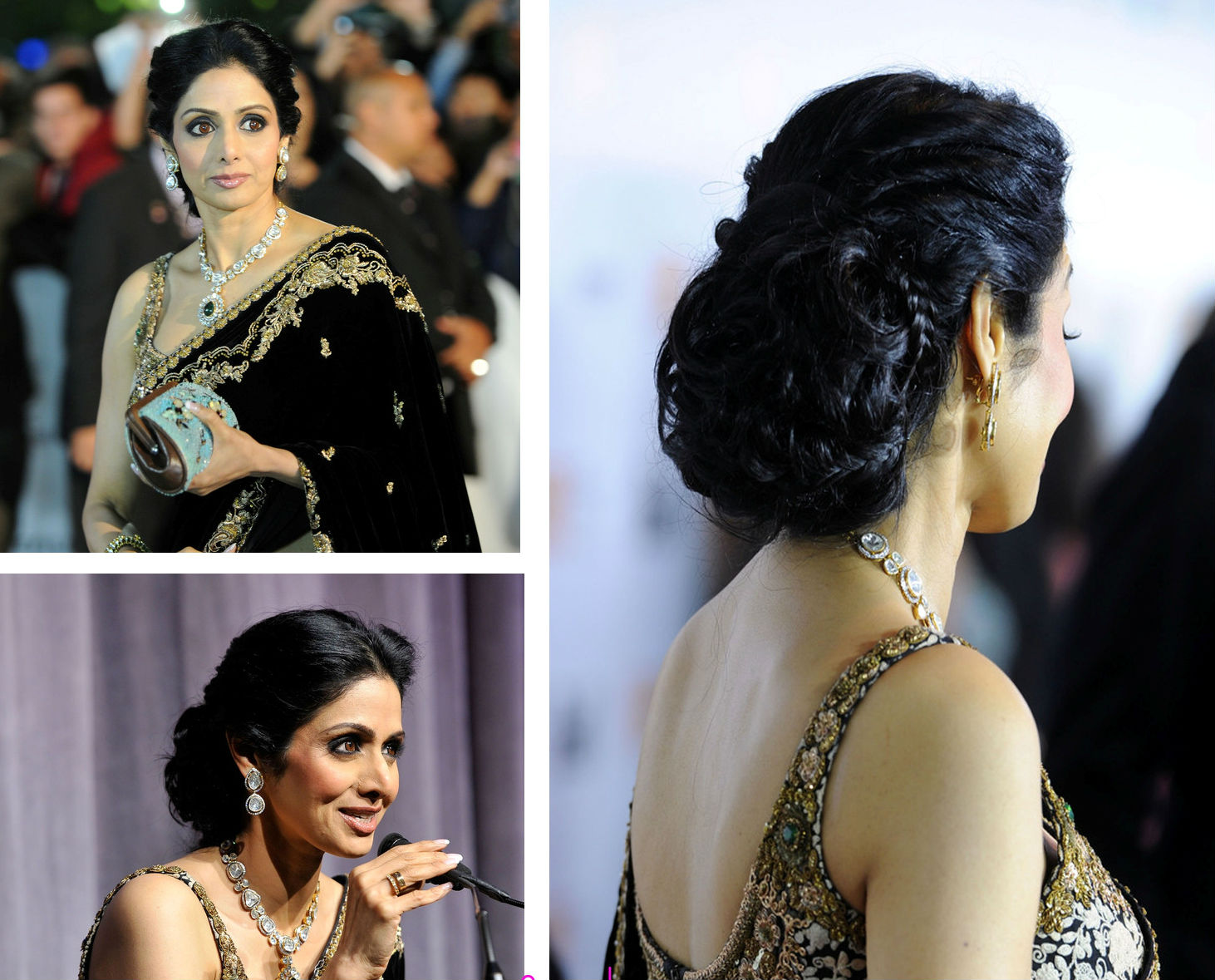 Bridal hairstyle Sridevi in bridal hairstyle