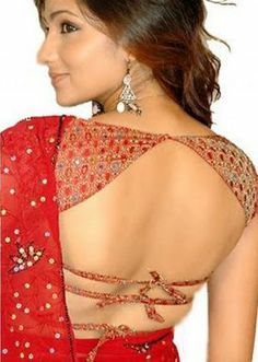 string style saree blouse type 2
