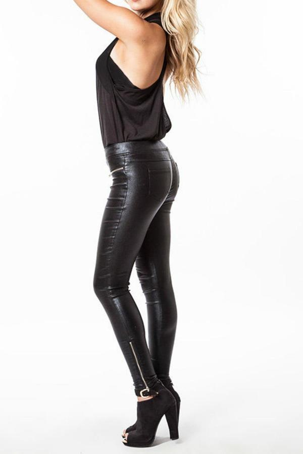 Faux-leather & Leather Leggings