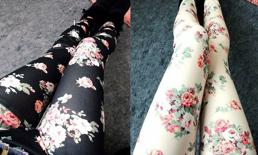 Floral print leggings