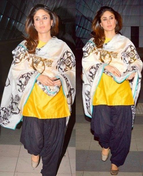 Kareena Kapoor Khan wearing Patiala Salwar