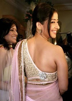 Manisha Koirala One Shoulder Saree Blouse