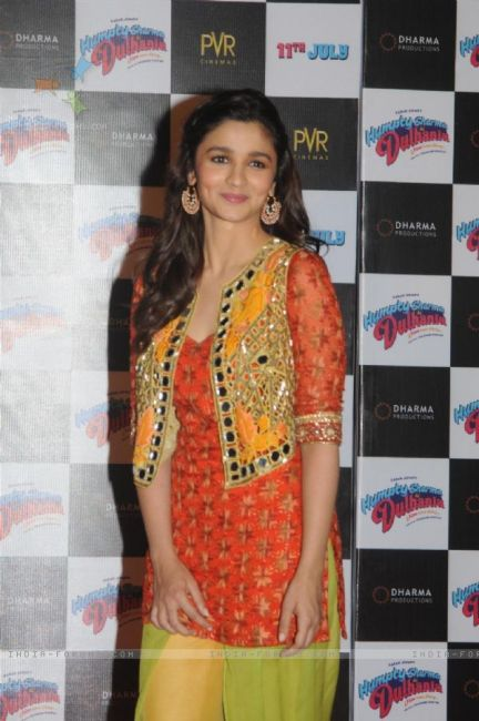 Alia in salwar with shrug