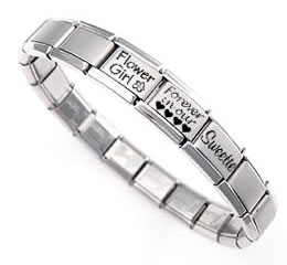 Italian charm bracelet with messages