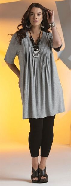 Gathered Tunic on Legging