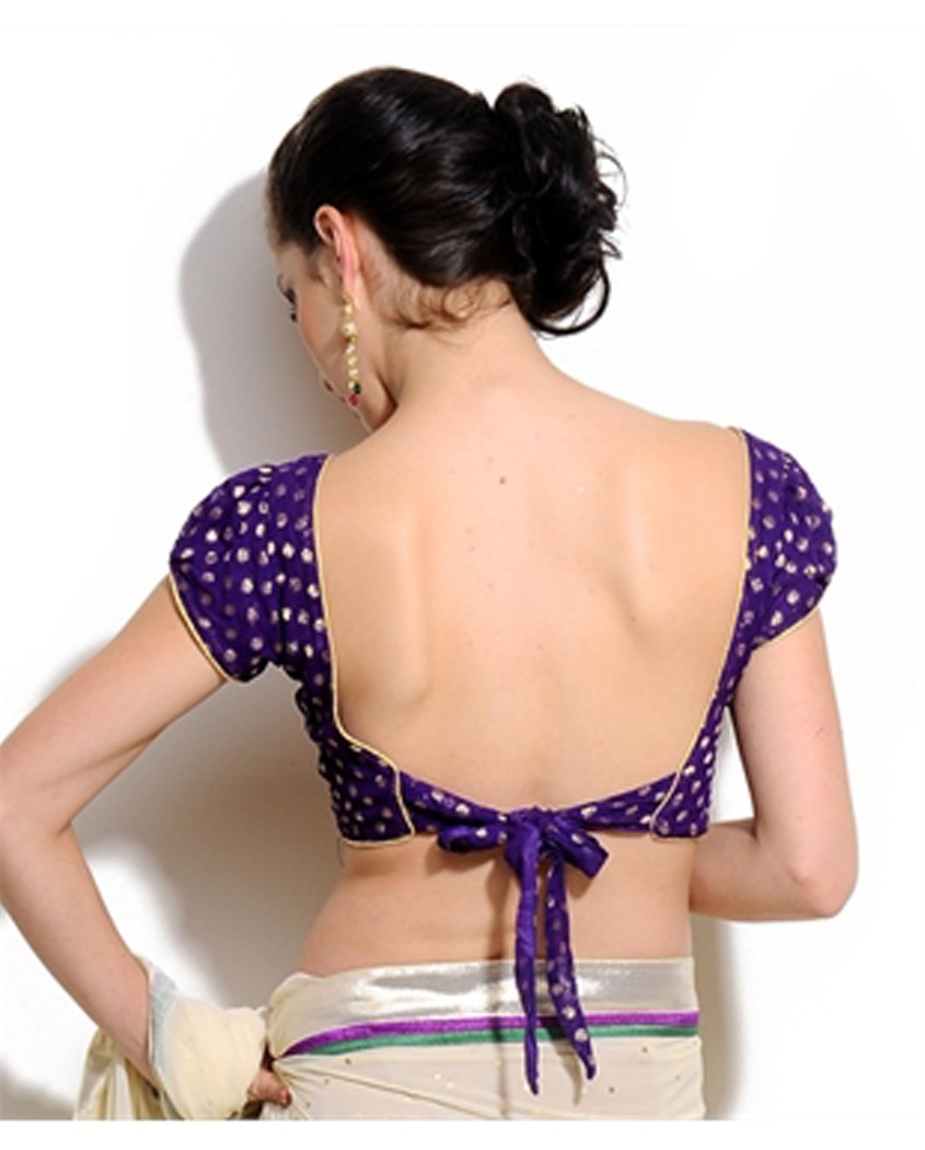 saree blouse with knot on back