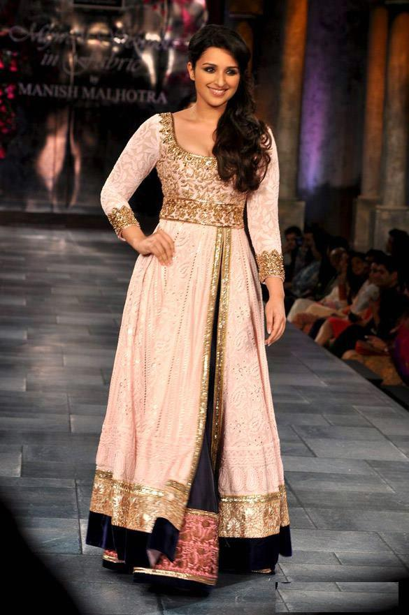 Parineeti Chopra in a front-slit anarkali