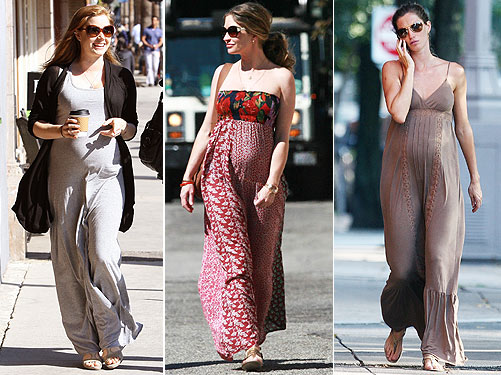 Attractive maxi dresses for pregnant women