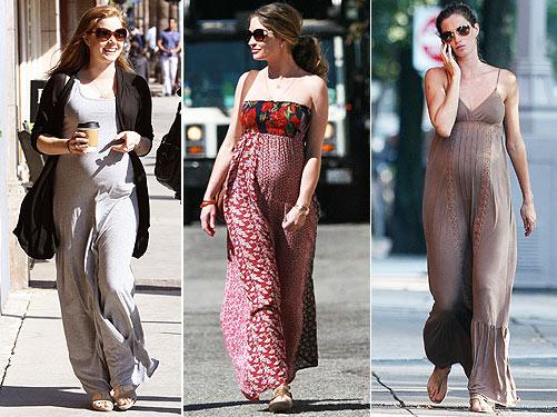 Attractive maxi dresses for pregnant women