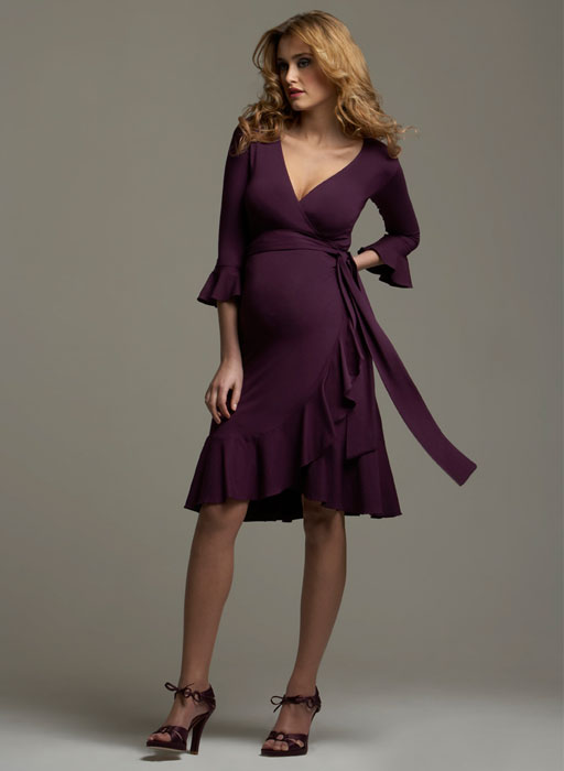 Wrap dress for pregnant women