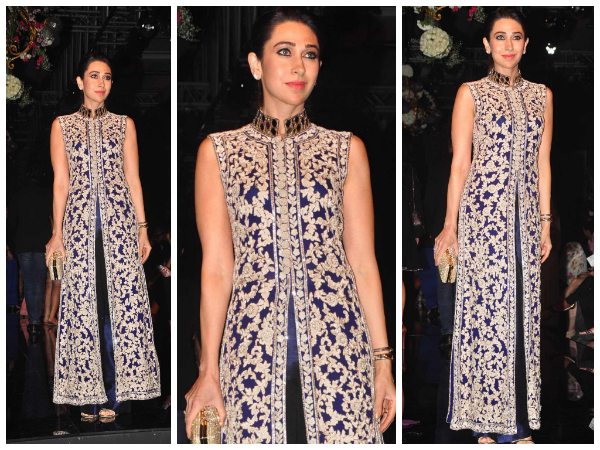 Karishma Kapoor in a straight anarkali