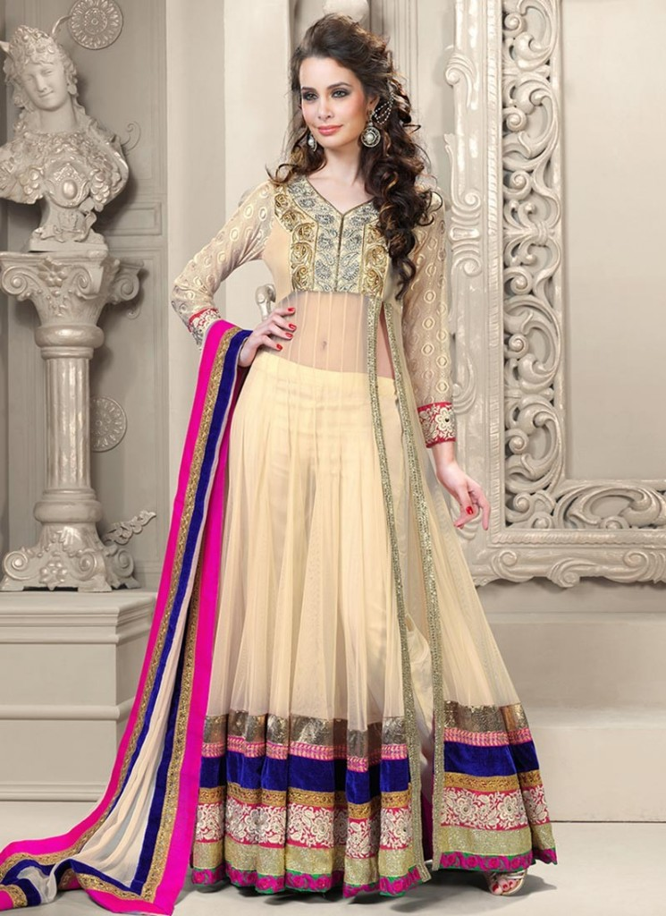 Side-slit anarkali