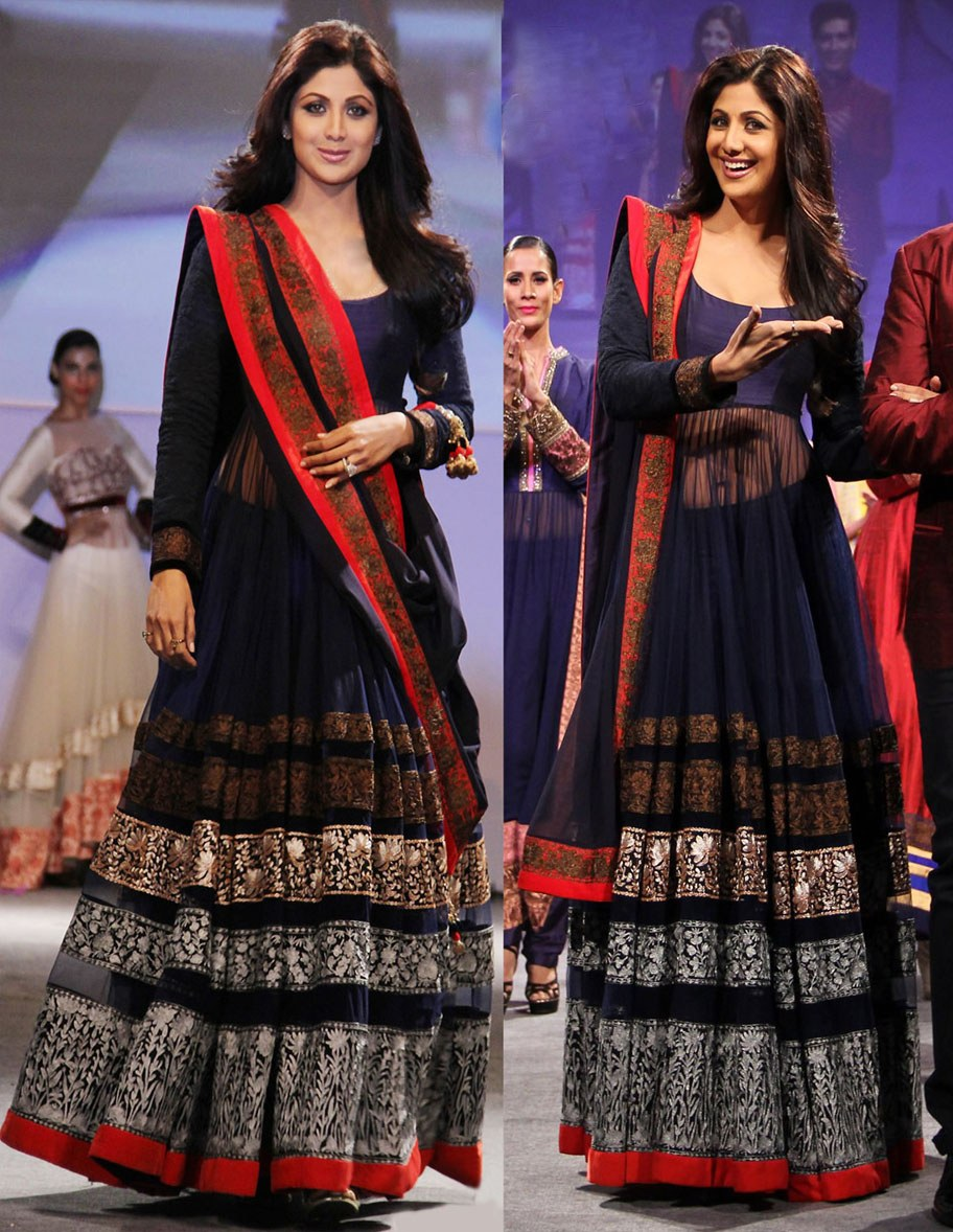 Shilpa Shetty in a net anarkali