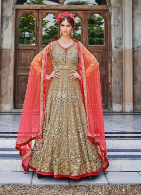 Briddal embroidered anarkali