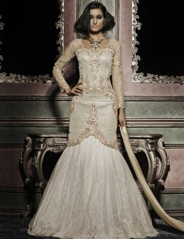 Fish-cut gown anarkali