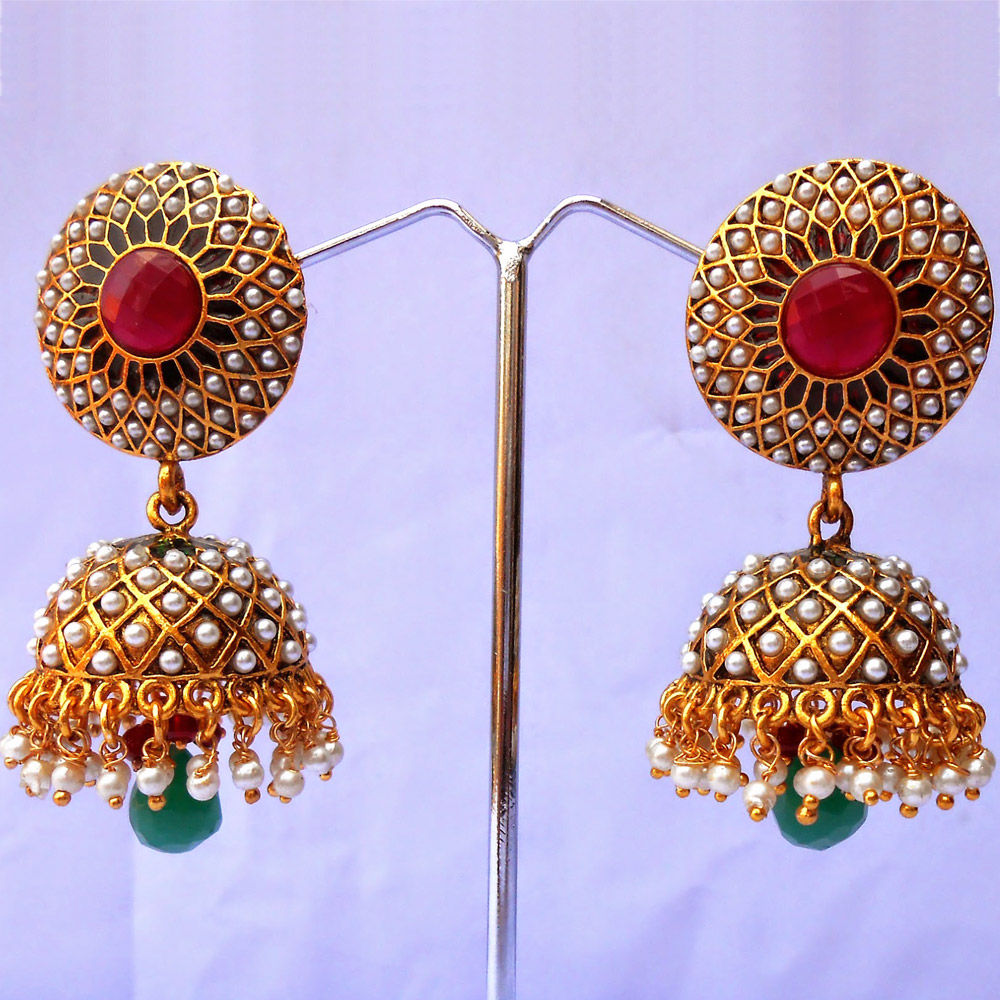 Drop-earring jhumka