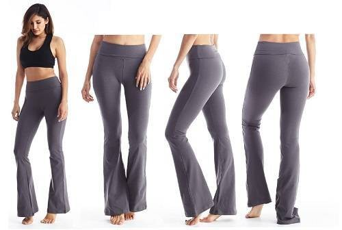 Fold over yoga pants for pregnant women