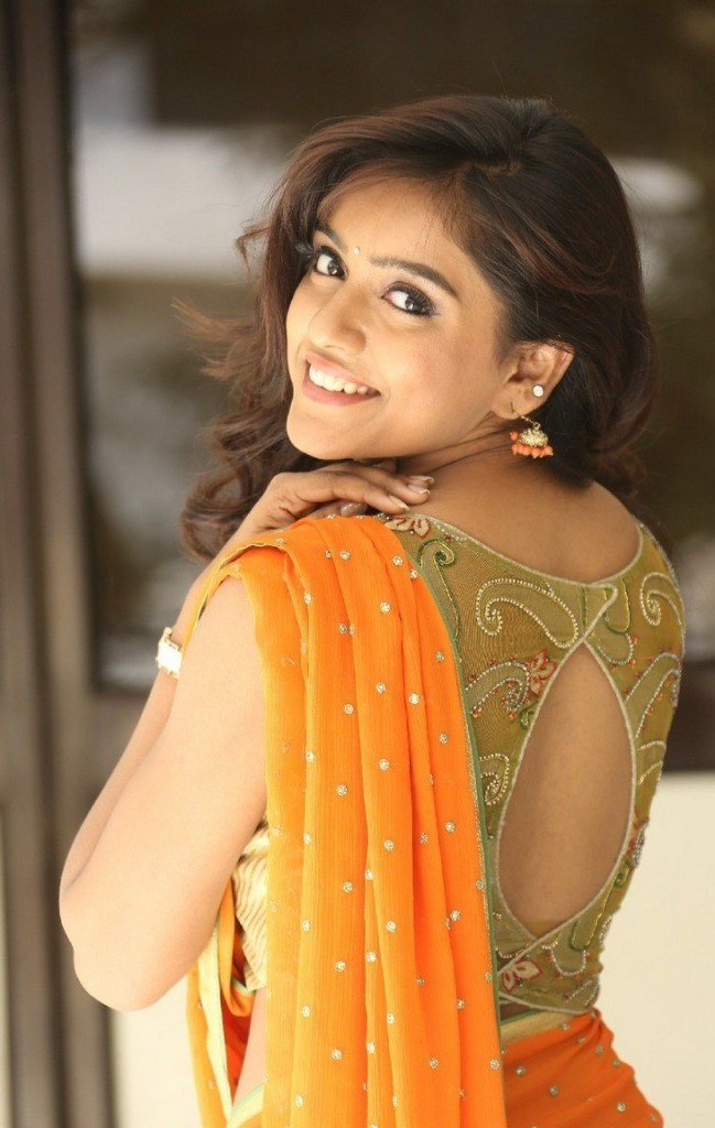 Vithika Sheru with pot neck blouse