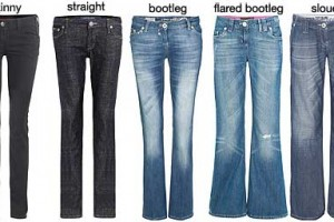 various types of jeans