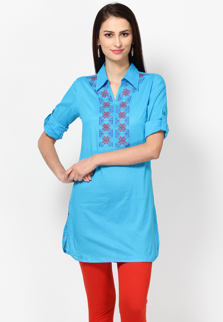 Stand Collar Kurta Designs : Top kurtis neck designs for your stylish look fashionpro