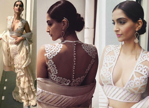 Bold Blouse by Abu Jani and Sandeep Khosla at Cannes