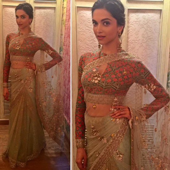 Deepika Padukone on sets of 'Swaragini' show during 'Bajirao Mastani' promotions