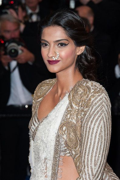 Sonam's cape blouse from her 2013 Cannes
