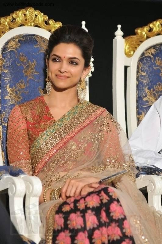 Deepika Padukone In Sabyasachi at Kochadaiyaan Audio Launch