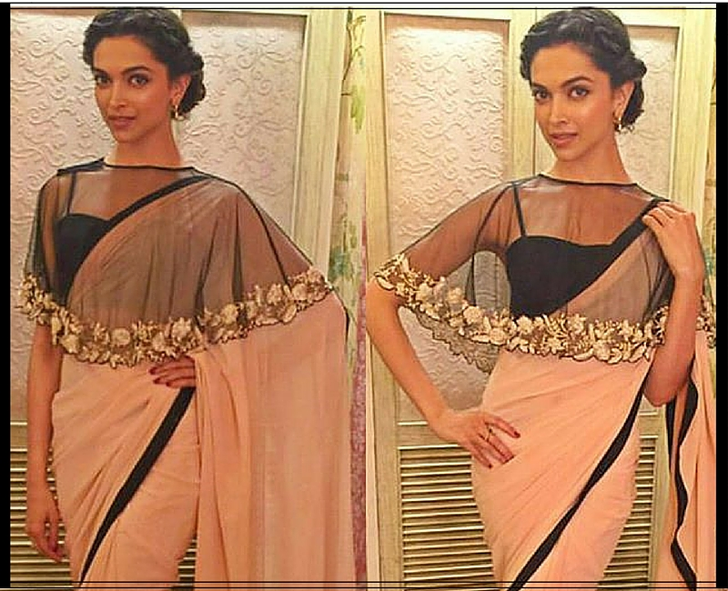 Deepika in Cape Spaghetti Blouse on CNK