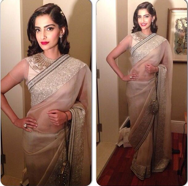 Sonam's Blouse Design at Femina Women of Worth Awards