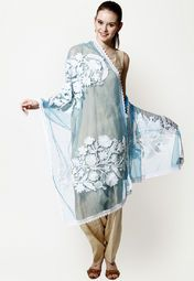 Net dupatta for a casual look.
