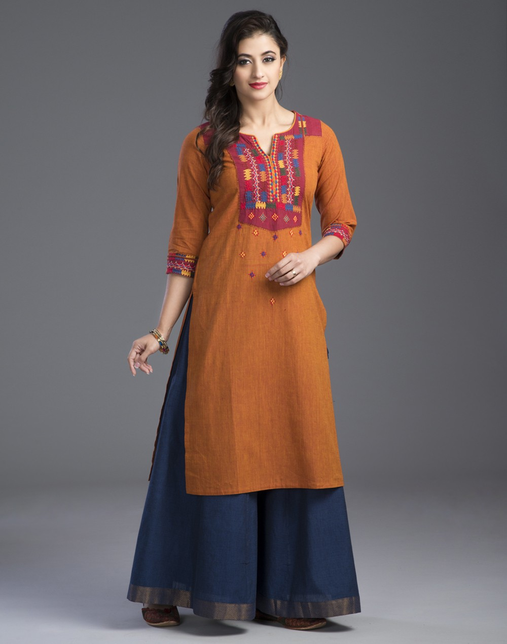 Ethnic kurta with palazzo pants