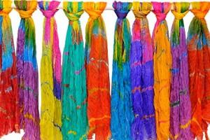 Multi-colored dupattas
