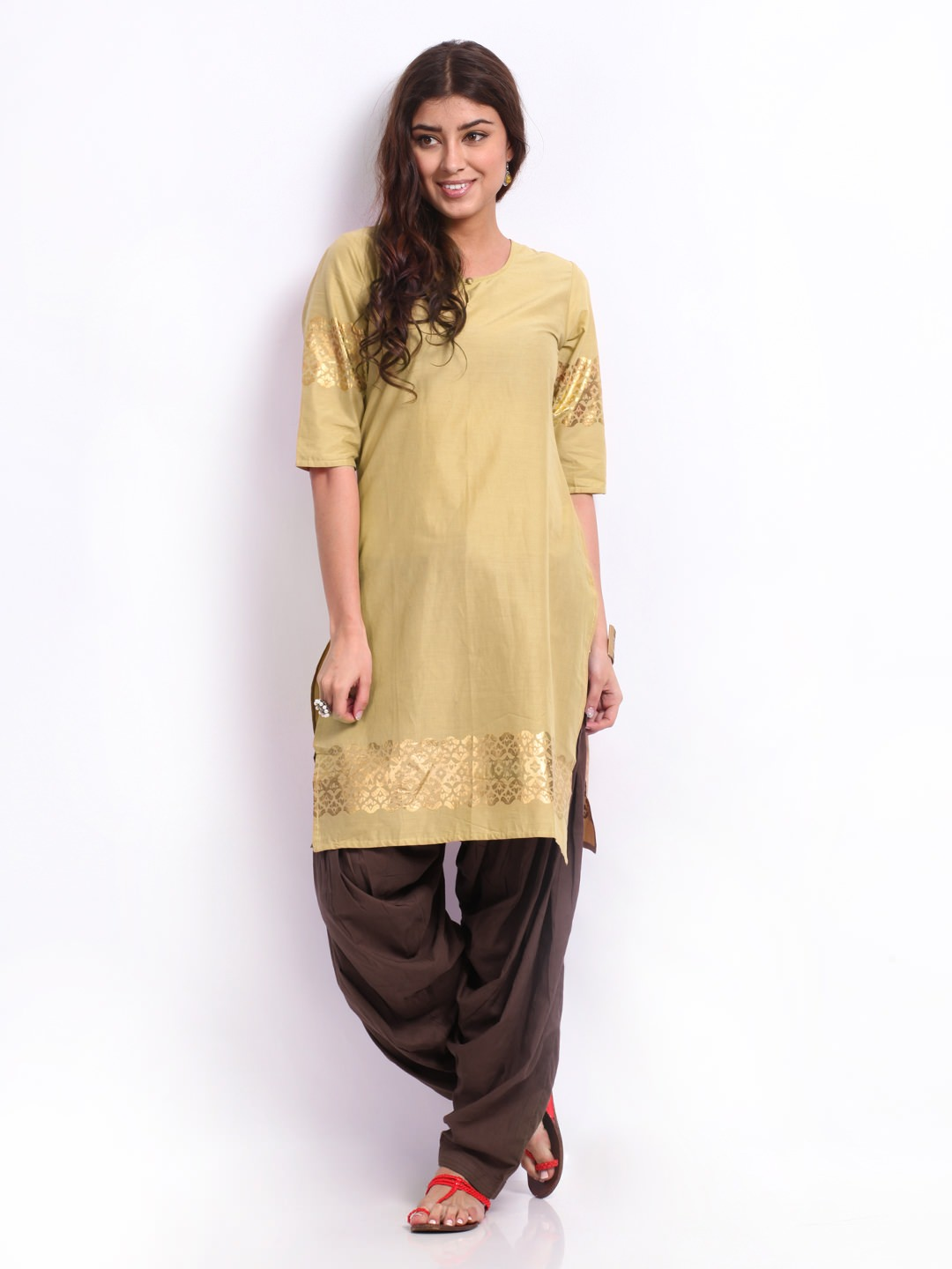 casual kurta patiala combination