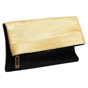 Folded flap clutch bag.