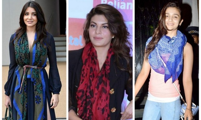 Bollywood celebrities adoring scarves
