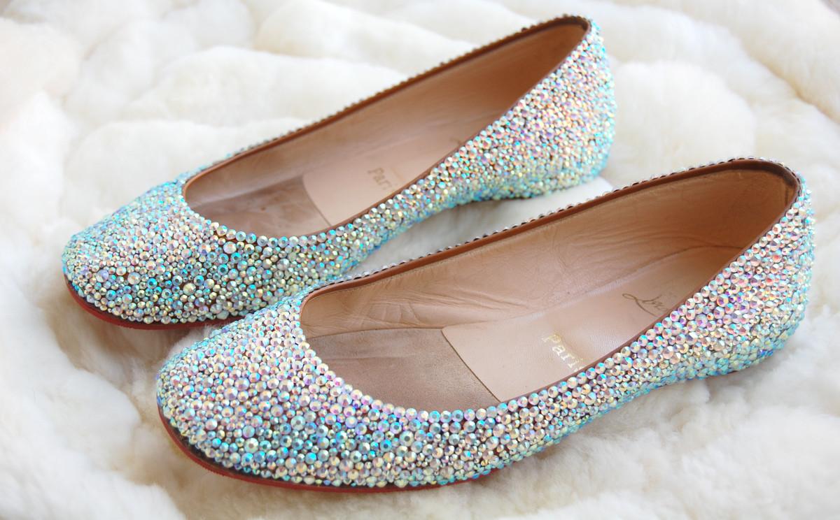 Shimmery ballet flats
