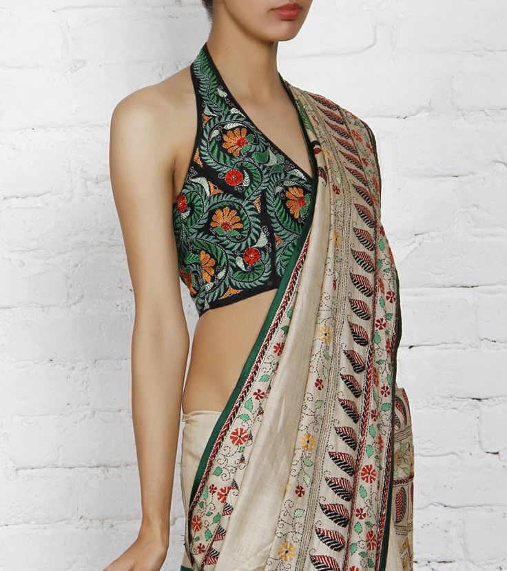 Kantha embroidery on blouses