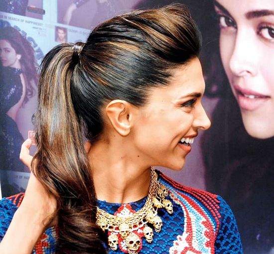 Hairstyles Inspired By Deepika Padukone_High Pony Tail