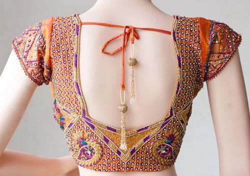 Zardosi embroidery on blouses