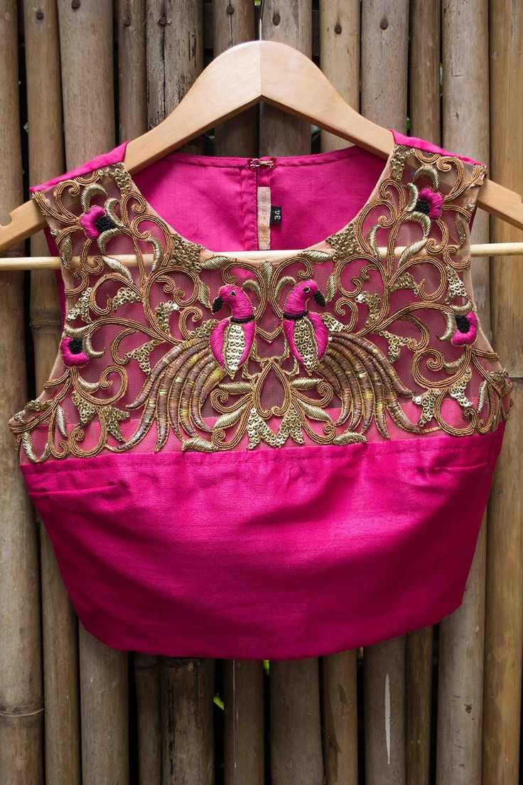 Cutwork embroidery on blouses
