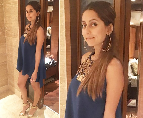 Anusha Dandekar's outfit for an event held recently