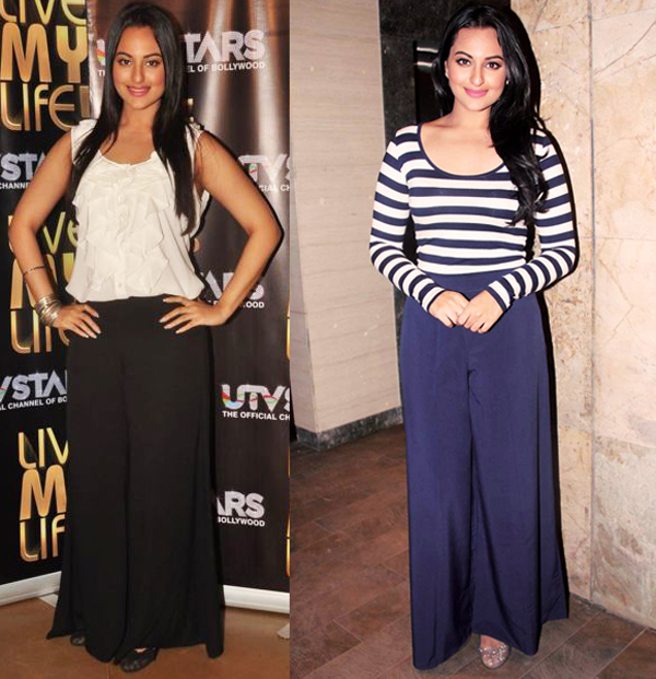 Sonakshi's take on palazzo pants