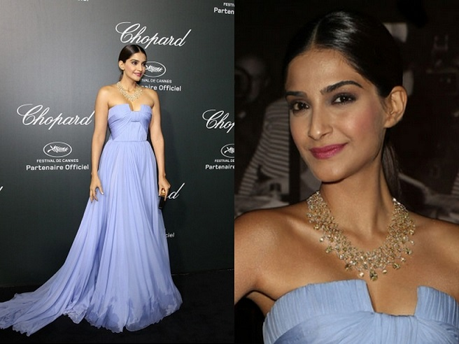 Sonam Kapoor at Chopard Party, Cannes 2014
