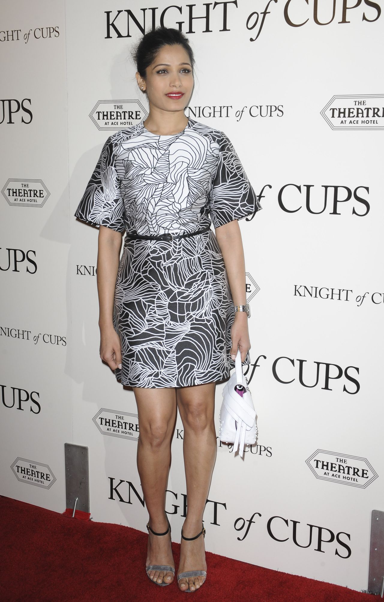 Freida Pinto at the premier of Knights of Cups