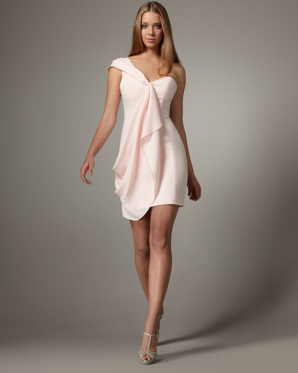 One Shoulder Draped Dress
