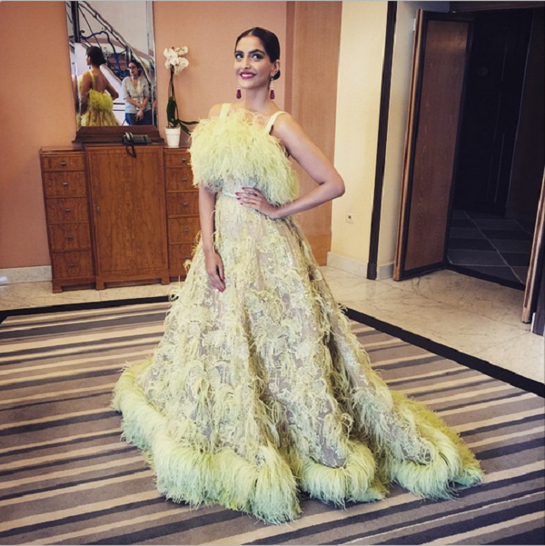 Sonam Kapoor at the 2015 Cannes Red Carpet