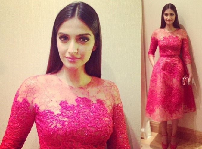 Sonam Kapoor at the Cannes 2013 Gala Dinner