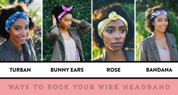 Ways to style wire headband