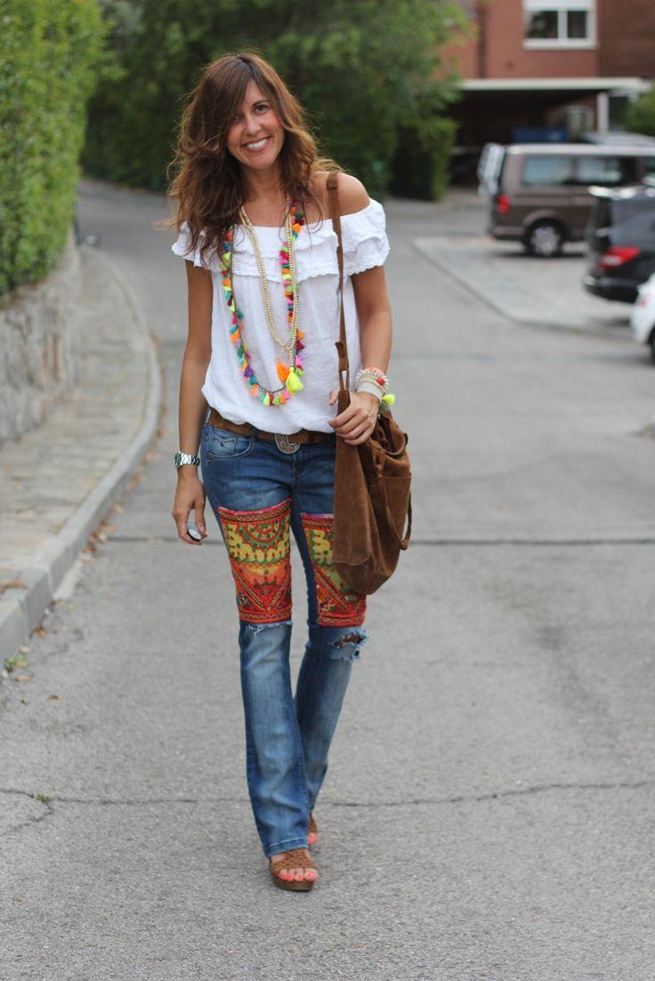 Womens Long Jean Skirts